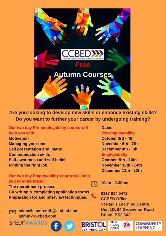 Free Autumn Courses Pre-employability & Employability