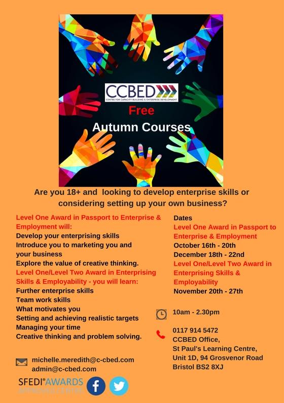 Free Autumn Courses Level One & Level Two